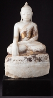 Antique alabaster Ava Buddha statue from Burma made from Marble