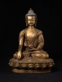 Old Nepali bronze Buddha statue from Nepal made from Bronze