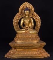 Newly made bronze Nepali Buddha statue from Nepal made from Bronze
