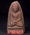 Antique Buddha amulet from Burma made from Earthenware